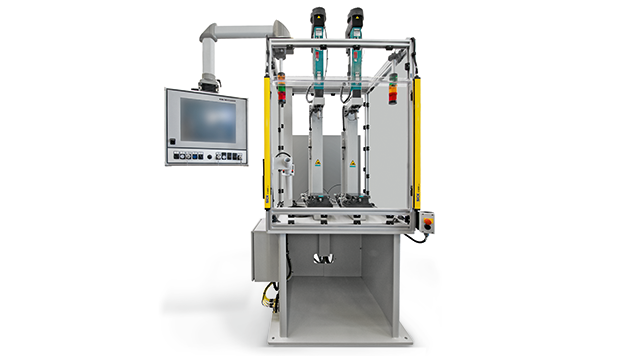 Servo drive TOX®-ElectricDrive setup on the C-Frame Benchtop press type CMB